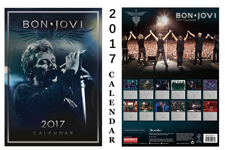 BON JOVI OFFICIAL 2017 CALENDAR + BON JOVI FRIDGE MAGNET