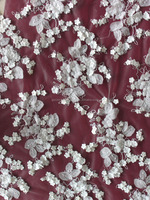 2014 hot selling lace fabric for pakistani fancy wedding dresses