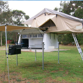 Slide On Camper Aluminium Ute Canopies With Roof Top Tent