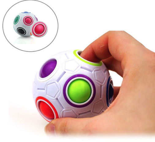 Education child toy fidget toy folding magic cube football Magical ball
