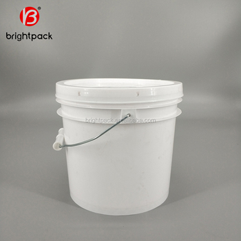 1 Gallon White Paint Barrel With Metal Handle And Lid Used For Ng Chemical Products