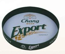 Green Round Metal Tray Tinplate For Beer