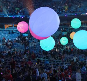 2019 Hot sale LED balloon light, led ballon Ceiling light for music  festival decoration
