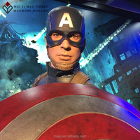 Simulated custom action wax figure of pop character American Captain Silicone statue