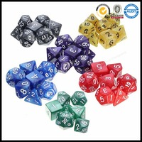 Polyhedral Dice Custom Multilateral Sided Engrave Acrylic Dice Set