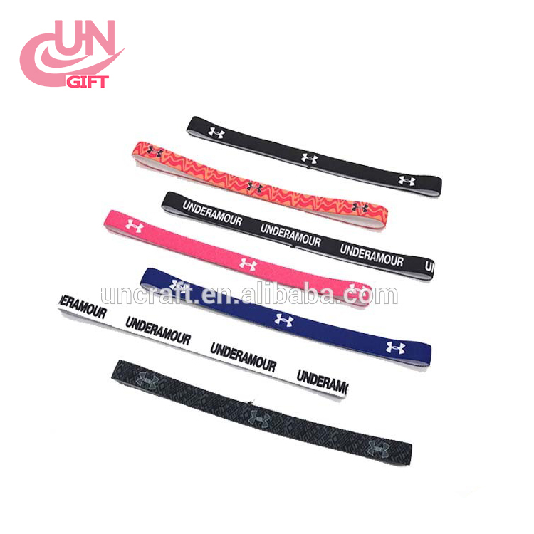 Custom LOGO silicone non slip men and women sports fitness yoga exercise treadmill exercise with hoop hair band