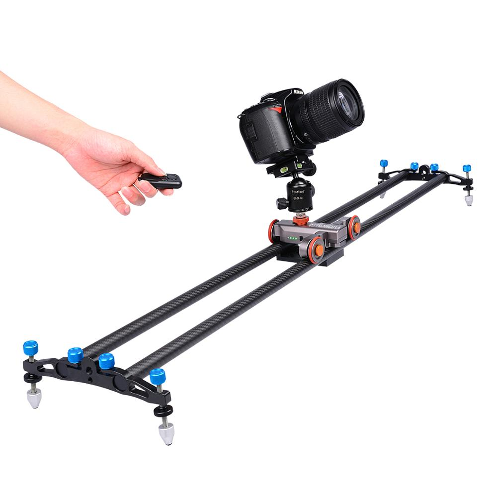 YELANGU Motorized Electronic Camera Slider Car Convenient Autodolly L4 for dslr Camera and Smartphone