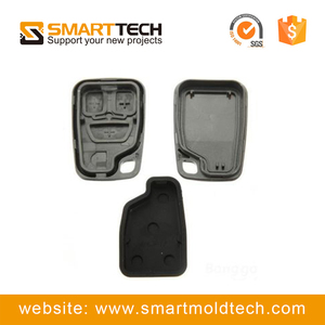 custom auto spare car key injection plastic parts molding