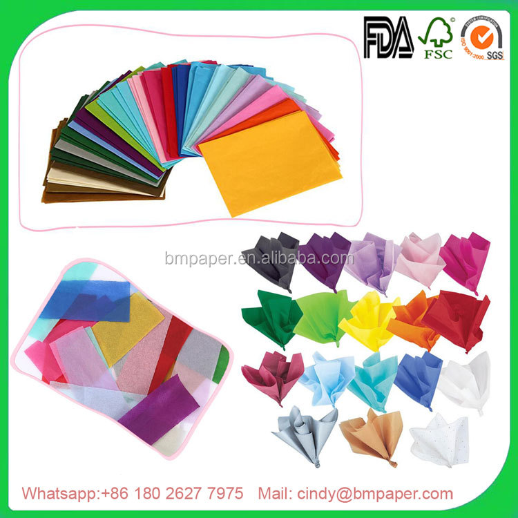 Moisture Proof 17gsm MG Custom Printed Colorful Tissue Paper
