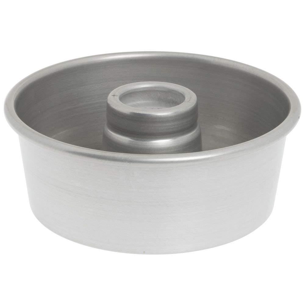 "Bundy Chicago Metallic Aluminum Angel Food Cake Pan with AMERICOAT Glaze - 7 1/2"" Dia x 3 1/16"" D"