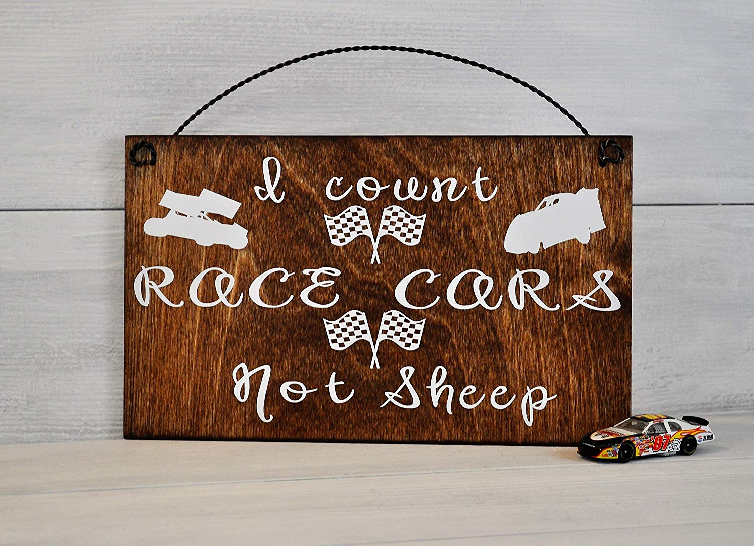 Get Quotations Racing Nursery Decor I Count Race Cars Not Sheep Wood Sign