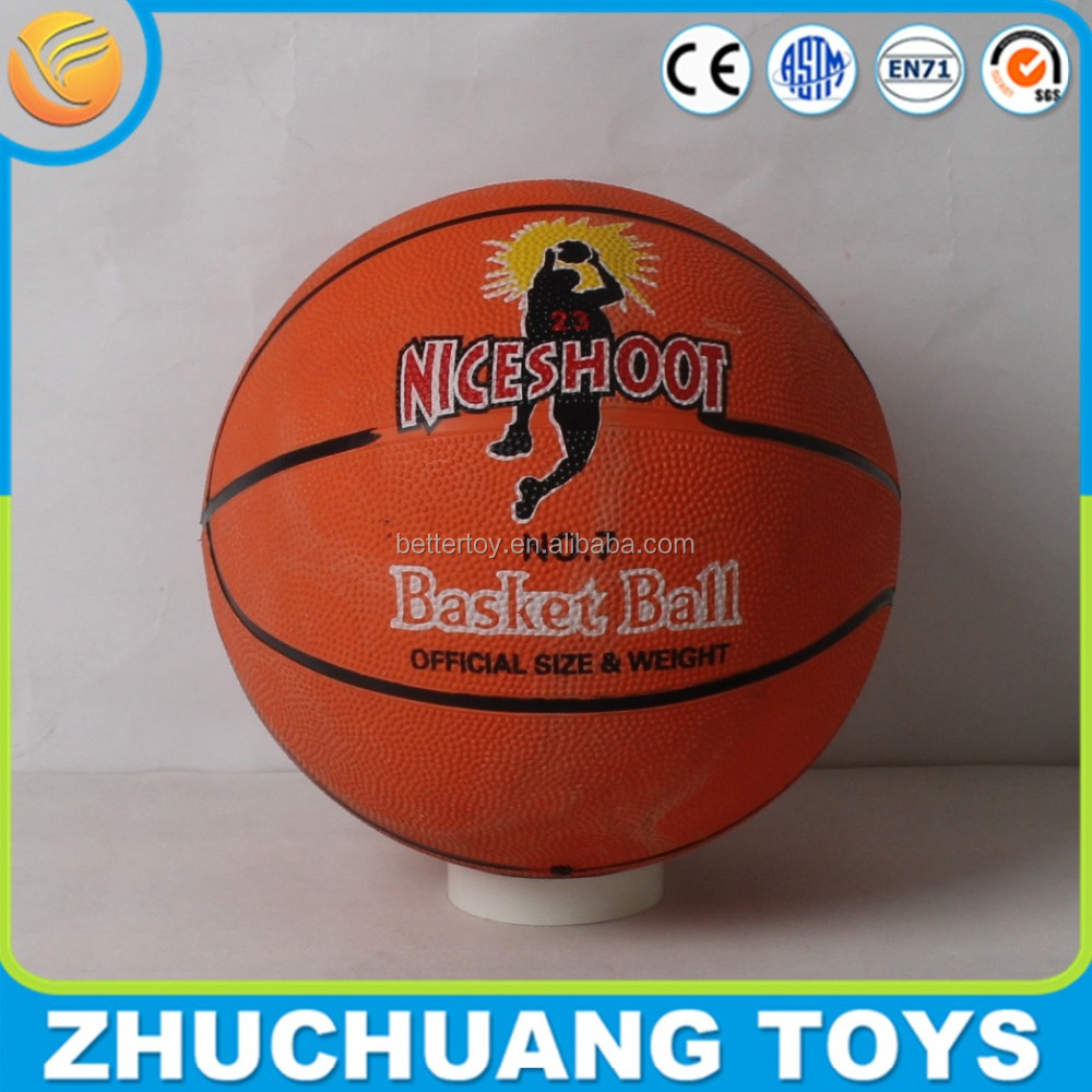 standard size 7 molten rubber basketball ball with custom logo