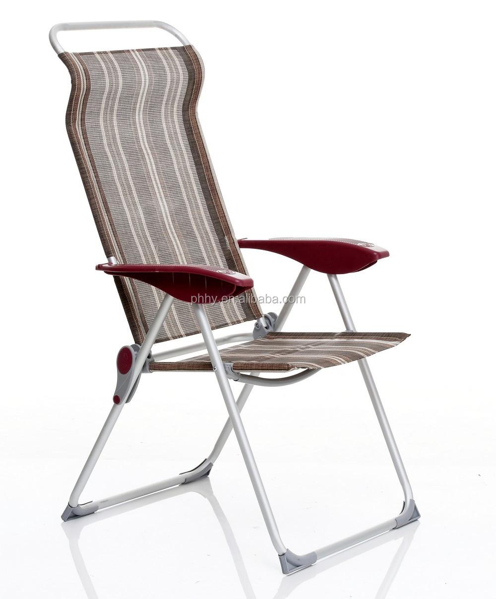 Aluminum Folding Beach Chair With 3 Position Plastic Armrest Buy Chaise
