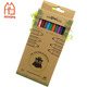 Custom cheap 24 color pencil set, wooden drawing color pencil pack in kraft paper box .