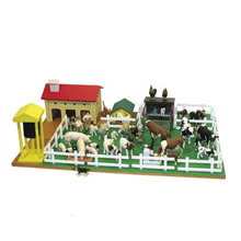 Factory Directly Sell fast delivery educational wood farm toy house for kids