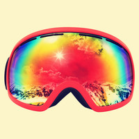 Top standard best quality snow color 2018 hot-selling winter sport equipment safety goggles for skiing