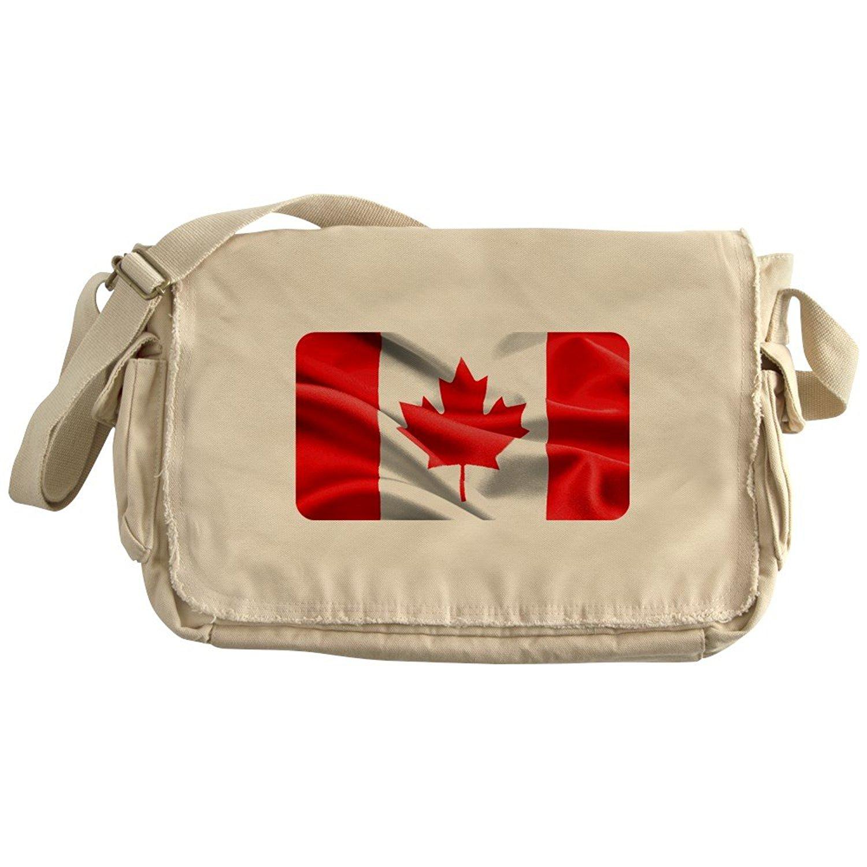 Royal Lion Khaki Messenger Bag Resplendent Canadian Canada Flag