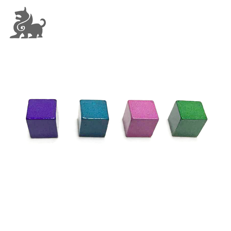 High quality customized metal cube 8mm board game cubes