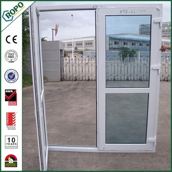 Plastic french door design upvc frame glass door price for Plastic french doors