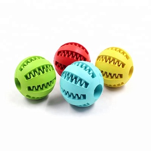Rubber Pet Cleaning Balls Toys Ball Chew Toys Tooth Cleaning Balls Food Dog Toy Made in China