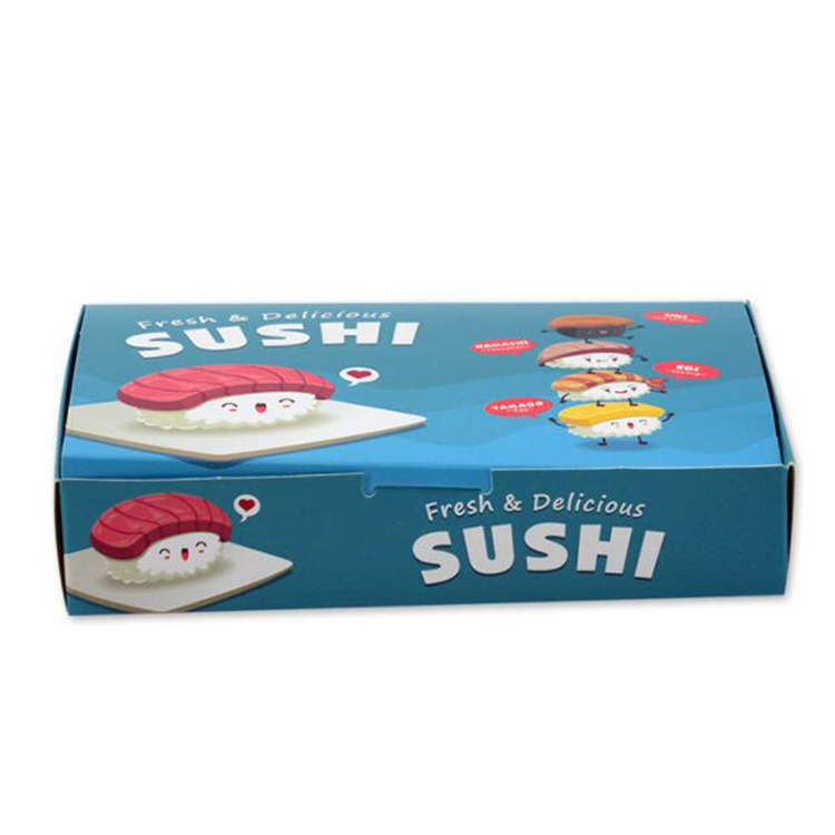 Custom printed sushi container box for packaging