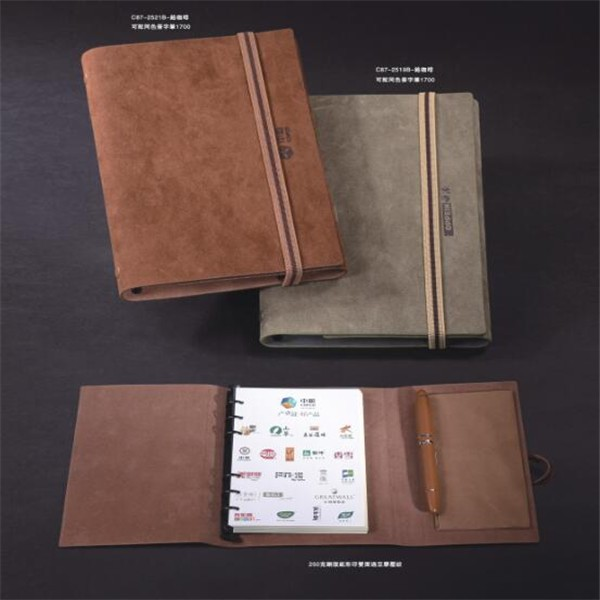 2017 diary hard cover notebook pu notebook leather