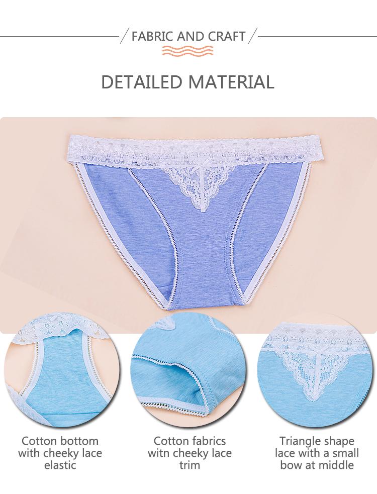 Wholesale women sexy mini underwear lace bralette seamless panties