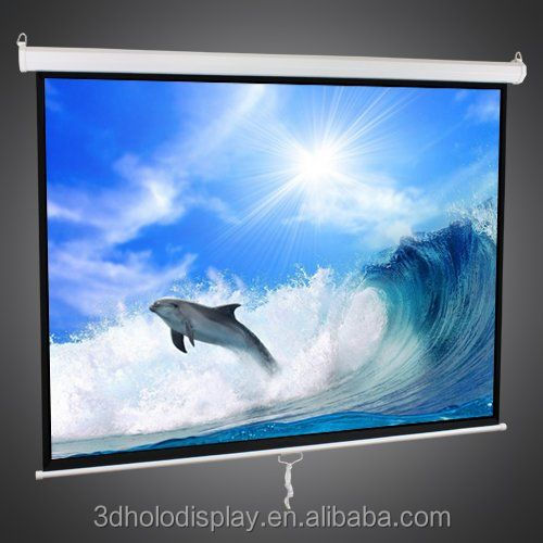 Manual Self Lock Projection Screen , Pull Down Projection Screen