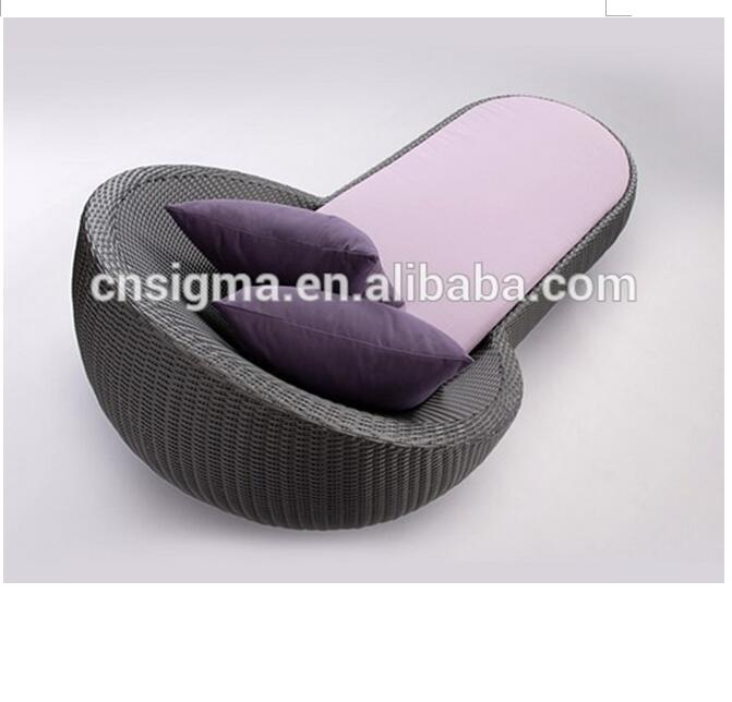 Sigma resin wicker outdoor pool sunbed furniture