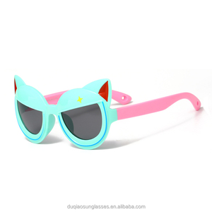 Kids silica gel sunglass children sunglasses offered by China