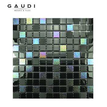 Iridescent Black Cheap Price Glass Mosaic Wall Tile Buy Carreaux De Mosaique De Verre Irise Mosaique De Verre Clair Irise Carrelage Mural En Mosaique De Verre Pas Cher Product On Alibaba Com