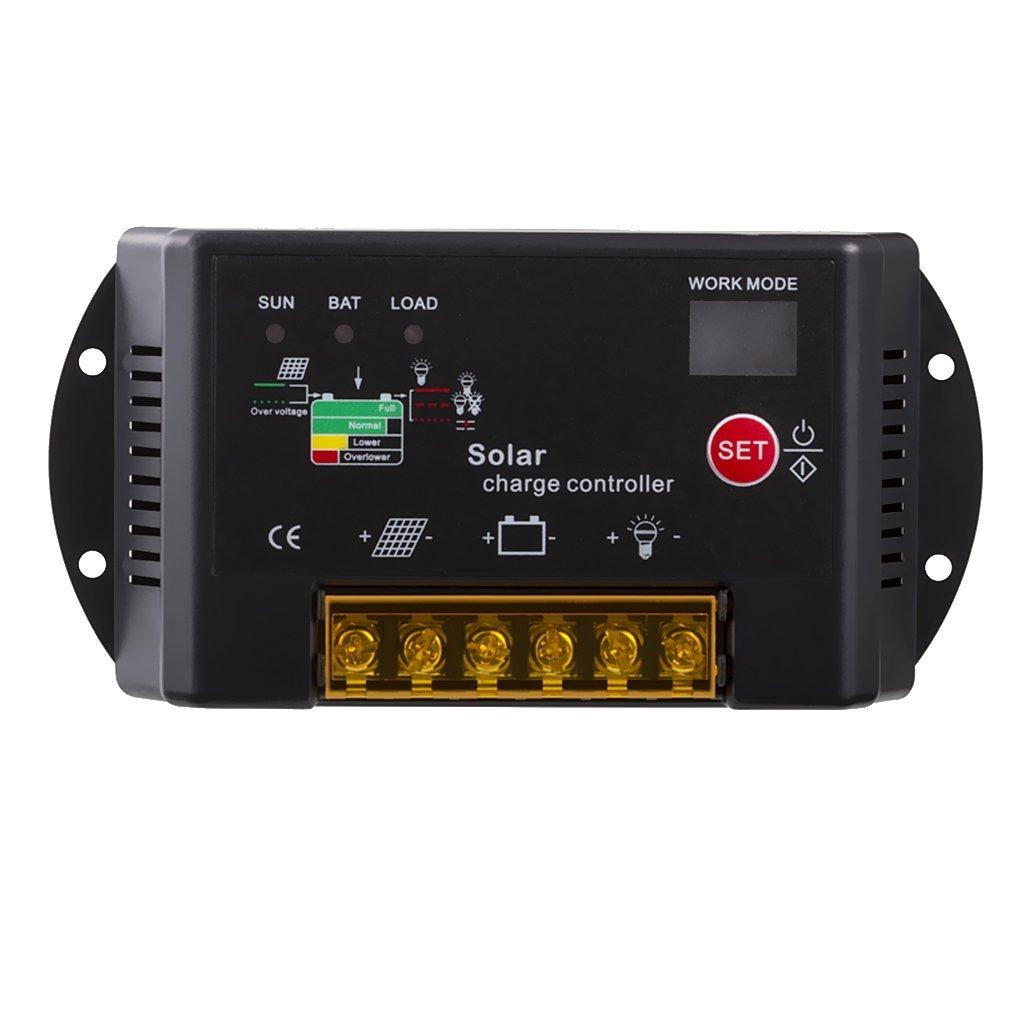 MonkeyJack PWM Solar Charge Controller 10 Amp 12 / 24 Volt Auto Panel Battery Regulator