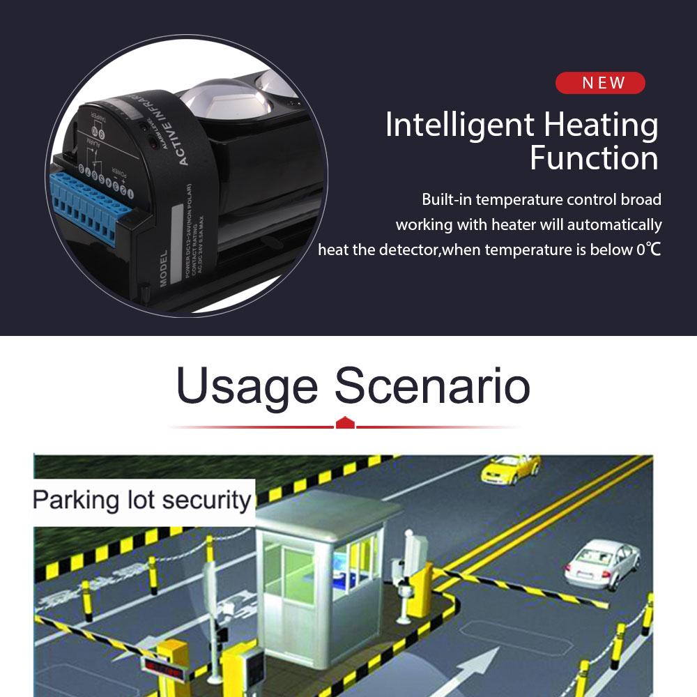 Long Range Infrared Laser Break Beam Perimeter Detector Alarm Of Circuit Security Check Equipment