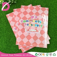 Custom design different types of transparent plastic pp L shape A4 plastic file folders