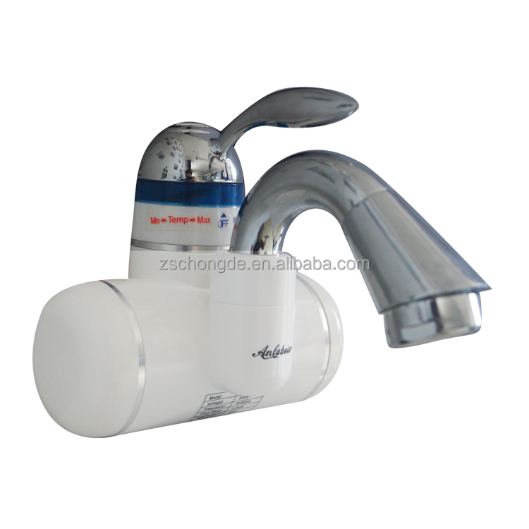 Calentador de agua 3000 W, calentadores de agua eléctricos sin tanque, grifo instantáneo de un solo Mango para calentar agua, grifo para cocina y baño