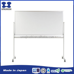 Oval shape stand base one side print magnetic white board with grid painting