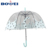 Promotional dome transparent POE clear bubble umbrella with cat pattern
