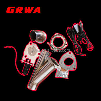 exhaust cutout swith electric control valve dump Y pipe catback bypass valve