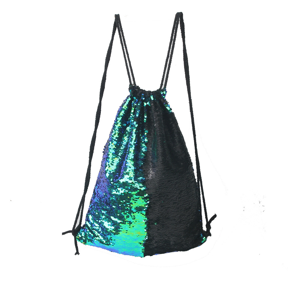 shiny paillette drawstring bag drawstring, backpack