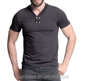 Slim Fit Lightweight Basic Designed Short Sleeve Shirts Casual Tops T With Button