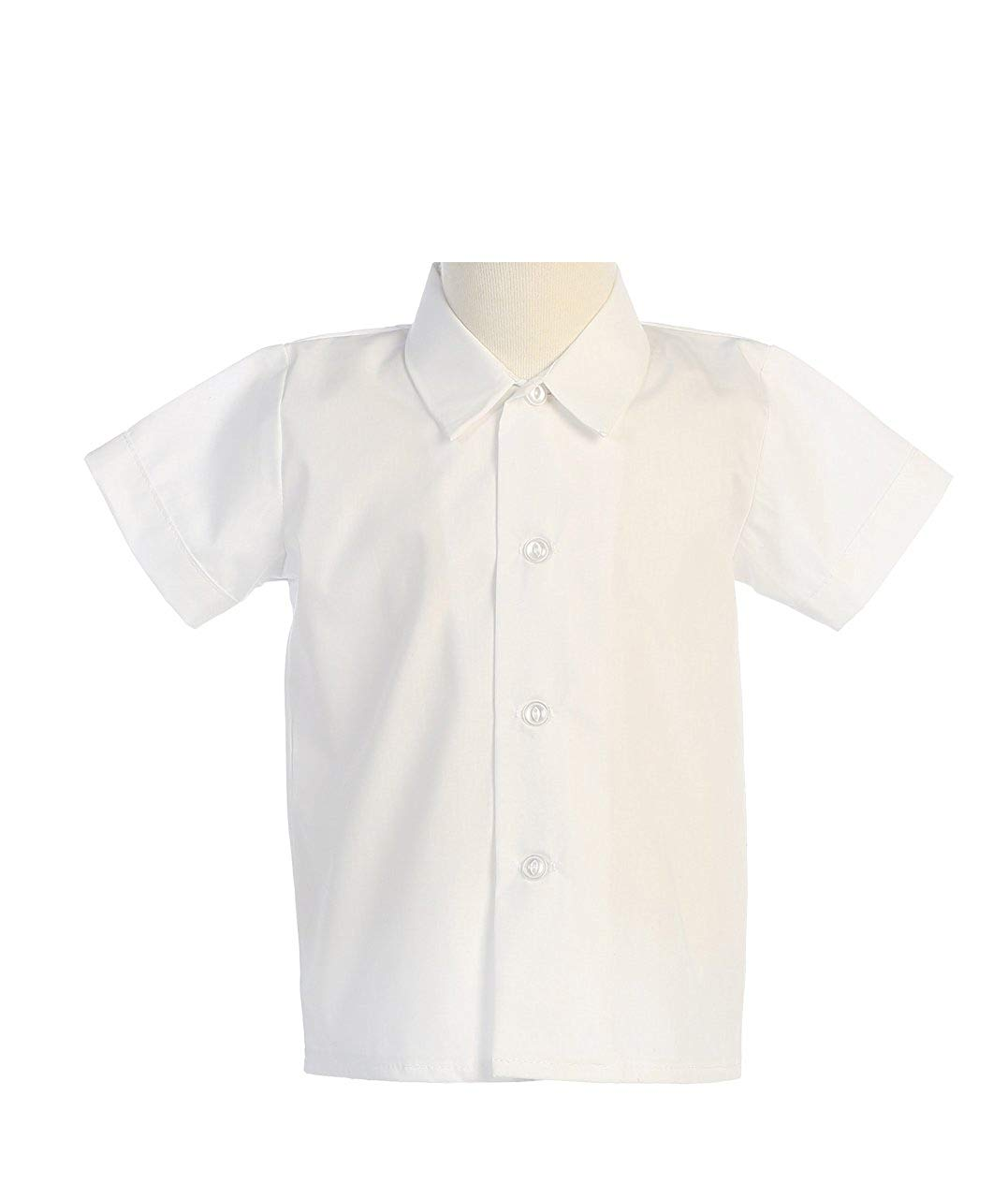 f91d9b49e7bd Get Quotations · Lito Baby Boys Short Sleeved Simple Dress Shirt White or  Ivory - Infant to Toddler