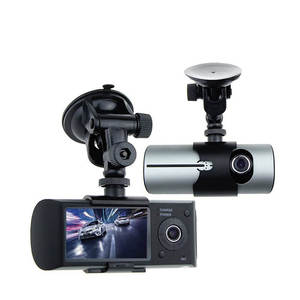 "Dual Camera Car DVR R300 with GPS G-Sensor Cycle Recording 2.7"" TFT LCD X3000 Cam Video Camcorder"