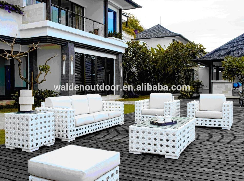 bianco vimini mobili da giardino moderno sofà del rattan del pe(dh ... - Mobili Da Giardino In Rattan Vita Moderna
