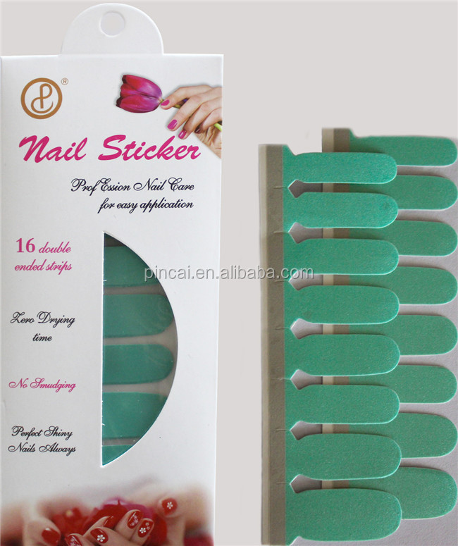 2D Type and printing, PET Material nail wraps