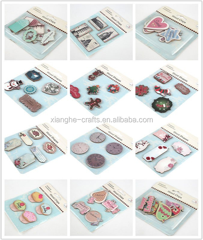 laser cut natural or printed wooden scrapbooking wholesalers