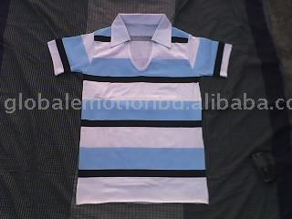 Rugby Polo shirt / Women Printed strip polo t-shirts