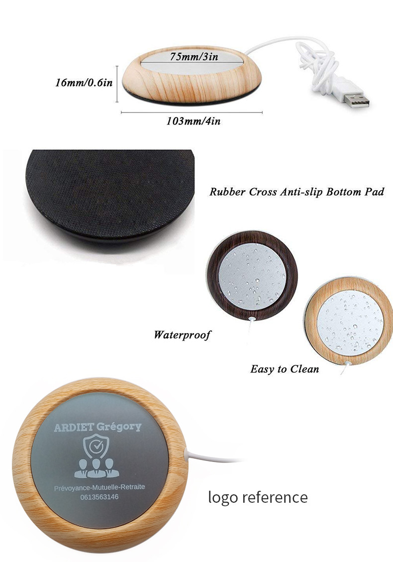 Portable USB Powered Coffee Tea Cup Coaster Warmer Cup Heater
