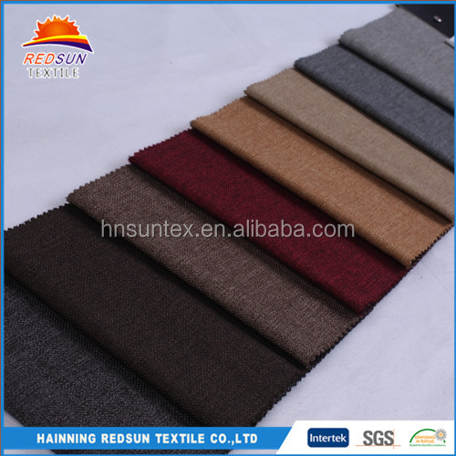 Superior 100% Polyester Look Poly Fabric Linen Cloth For Files