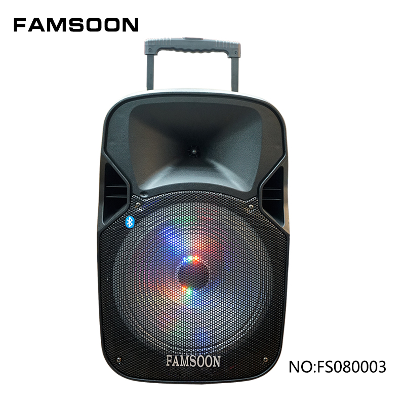 8 inch microphone speaker with usb sd slot radio