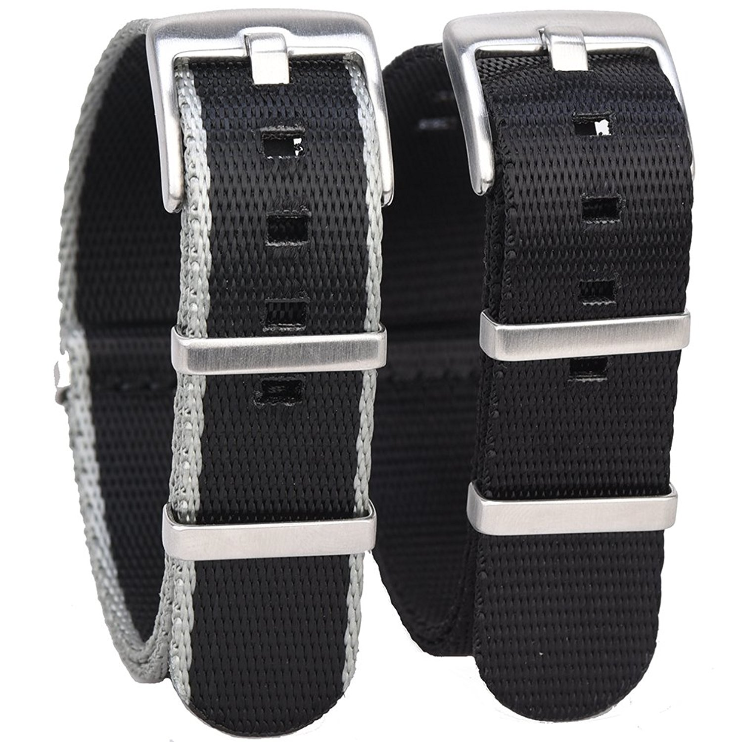 Randon Watch Bands NATO Strap Watch straps Premium Ballistic Nylon Strap Stainless Steel Buckle